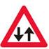 Færdselstavlen som Advarsler Modkørende trafik