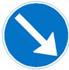 Rundkørsel påbudt passage
