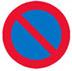 Parkering forbudt færdselstavle Teoriprøve Kørekort Teoritest