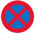 Standsning og parkering forbudt Færdselstavle