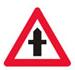 Færdselstavlen Advarsel om Farligt Vejkryds