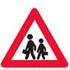 Færdseltavle advarer børn ved vejen