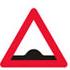 Færdseltavle advarer vejbump forude