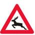Færdseltavler advarer dyrevild forude