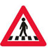 Færdselstavler Advarsel Forgængere forude