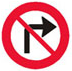 højresving forbudt