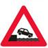 Færdseltavle advarer havnekaj