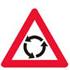 Færdselstavlen som Advarsler om Rundkørsel forude