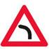 Færdseltavle advarer farligt vejsving til venstre